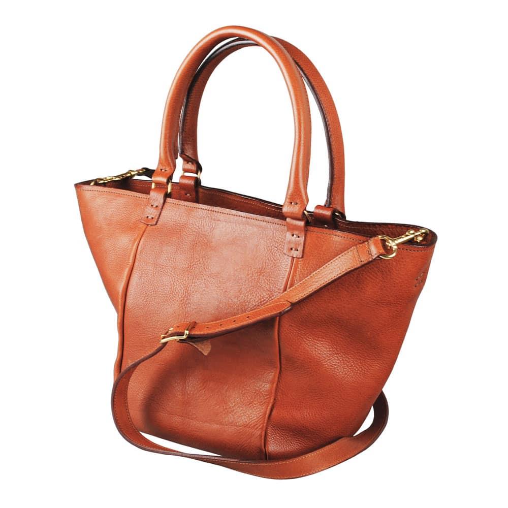 Stor håndtaske i læder