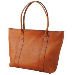 læder shopper taske